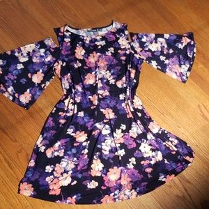 Nina Leonard Cold Shoulder Dress